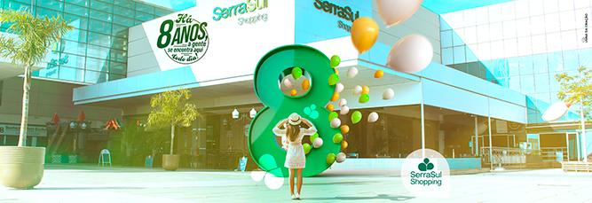 Campanha de Aniversário 8 anos - SerraSul Shopping