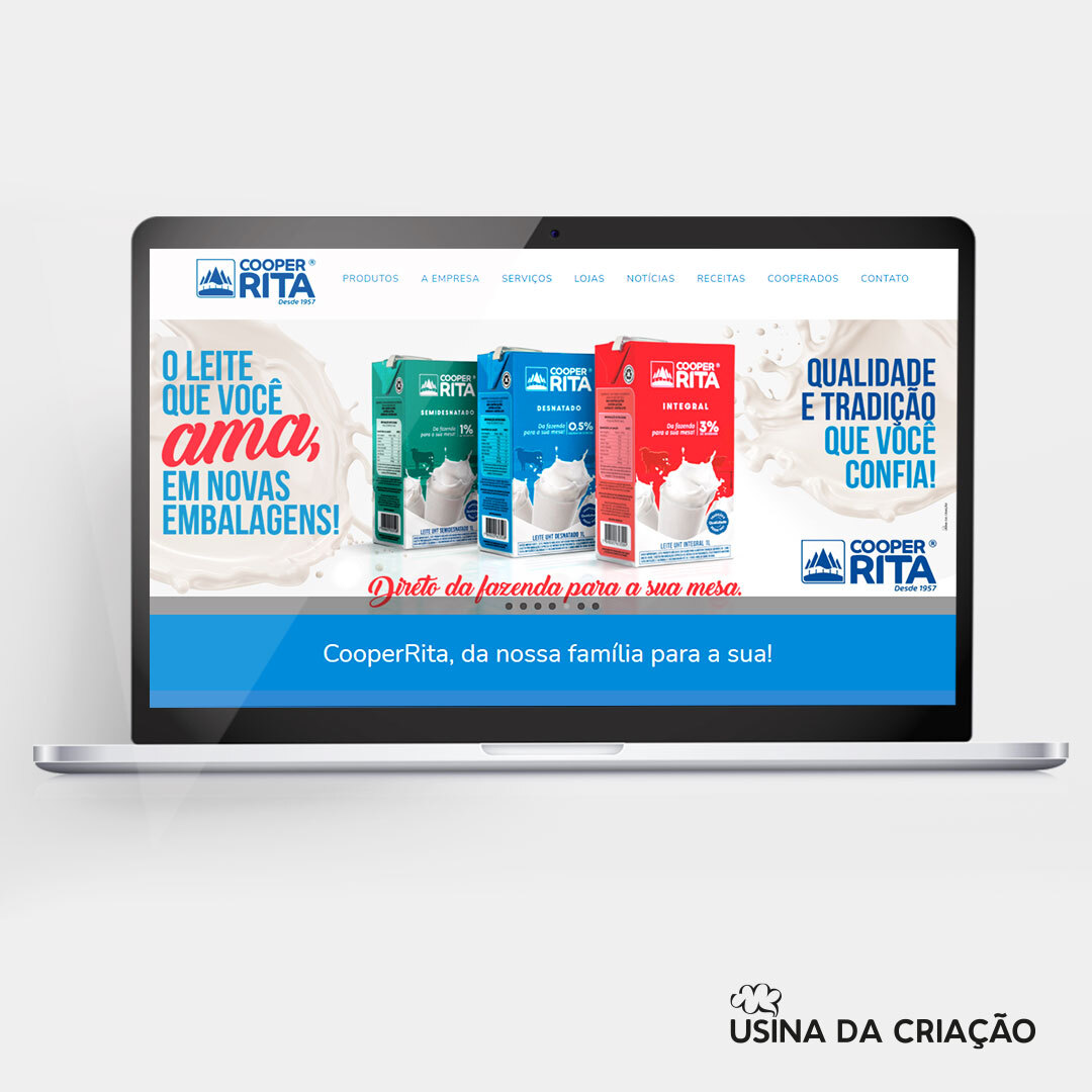 Campanha de lançamento Leites UHT - CooperRita