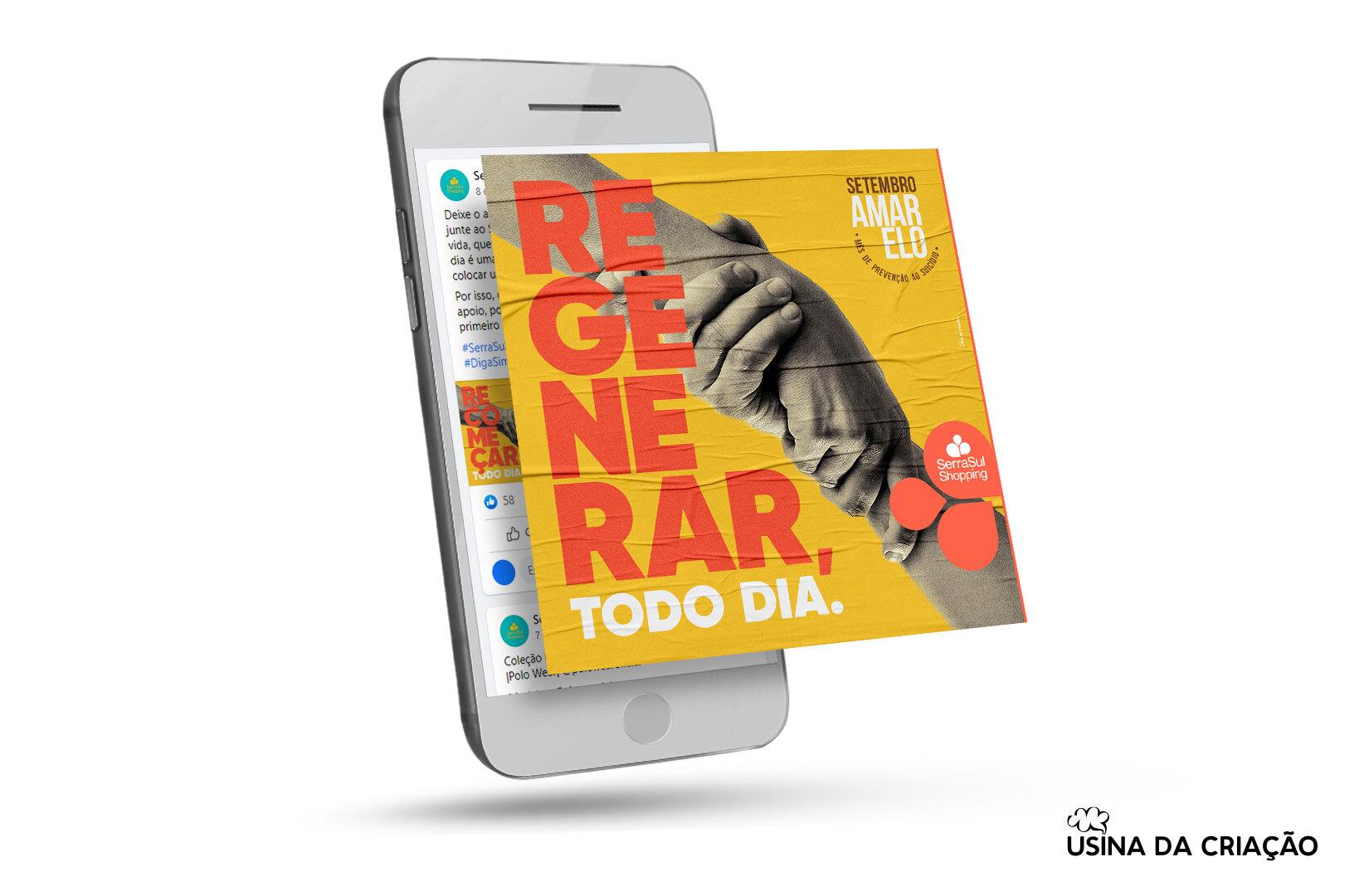 Campanha Setembro Amarelo 2021 - SerraSul Shopping