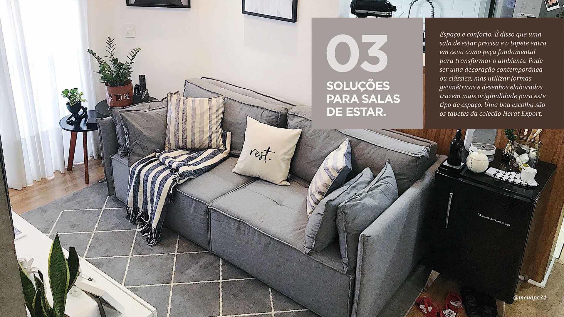 E-book 10 dicas para uso de tapetes em apartamentos - Tapetes São Carlos