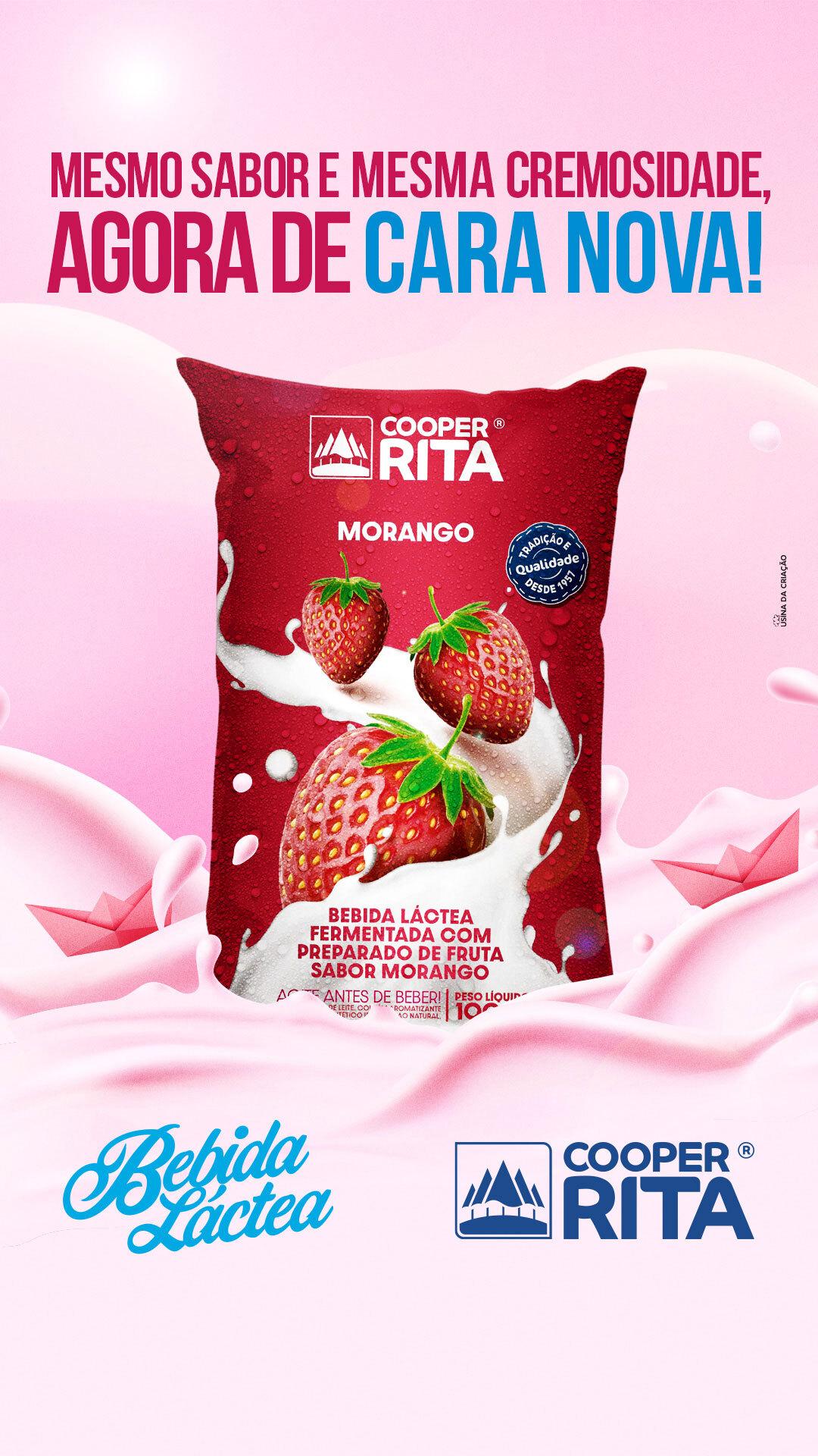 Stories - Nova embalagem bebida láctea - CooperRita