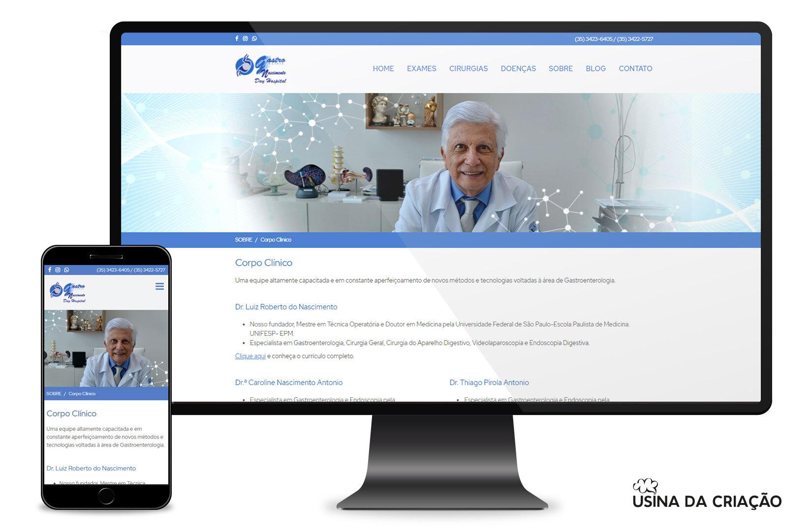 Site Institucional - GastroClinic Nascimento Day Hospital